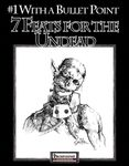 RPG Item: Bullet Points: 7 Feats for the Undead