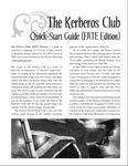 RPG Item: The Kerberos Club Quick-Start Guide (FATE Edition)
