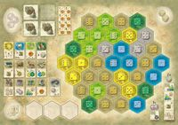 Board Game: The Castles of Burgundy: 3rd Expansion – German Board Game Championship Board 2013
