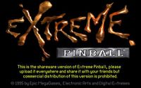 Video Game: Extreme Pinball