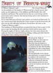 RPG Item: Nights of Barrow-Wight