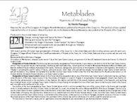 RPG Item: Metablades: Warriors of Mind and Magic