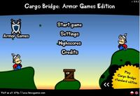 Video Game: Cargo Bridge: Armor Games Edition