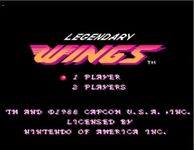 Video Game: Legendary Wings