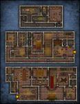 RPG Item: VTT Map Set 218: Mysterious Mansion of Secrets