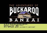 Video Game: The Adventures of Buckaroo Banzai