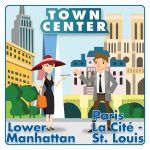 Board Game: Town Center: Lower Manhattan / Paris La Cité – St. Louis