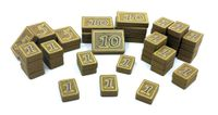 Board Game Accessory: Above and Below: Wooden Coin Set
