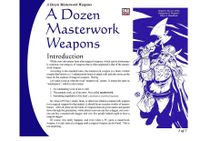 RPG Item: A Dozen Masterwork Weapons
