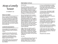RPG Item: Atop a Lonely Tower