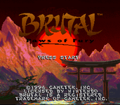 Video Game: Brutal: Paws of Fury