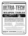 RPG Item: GURPS Ultra-Tech: Weapon Tables