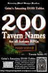 RPG Item: 200 Tavern Names for all Fantasy RPGs