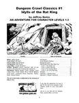 RPG Item: DCC #001: Idylls of the Rat King