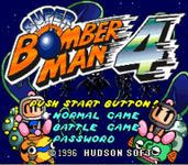 Video Game: Super Bomberman 4