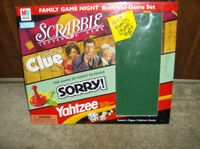 Board Game: Family Game Night Book and Game Set: Scrabble, Clue, Sorry, Yahtzee