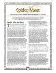 RPG Item: Uresia: Spider Meat
