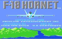 Video Game: F-18 Hornet