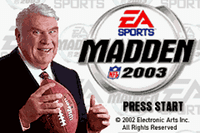 Video Game: Madden NFL 2003