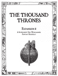 RPG Item: The Thousand Thrones Expansion 1