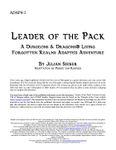 RPG Item: ADAP4-1: Leader of the Pack