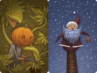 "Board Game: Dixit: ""Pumpkinhead"" and ""Santa"" Promo Cards"