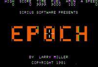 Video Game: Epoch (1981)