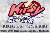 Video Game: Kirby: Nightmare in Dreamland