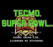 Video Game: Tecmo Super Bowl