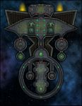 RPG Item: VTT Map Set 293: Starship Deckplan: Drone Beacon Ship