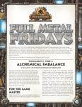 RPG Item: Full Metal Fridays Installment 2, Week 4: Alchemical Imbalance
