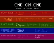 Video Game: One on One: Dr. J vs. Larry Bird