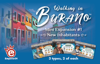 Board Game: Walking in Burano: Mini Expansion 1 – New Inhabitants