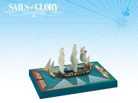 Board Game: Sails of Glory Ship Pack: HMS Swan 1767 / HMS Fairy 1778