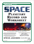 RPG Item: GURPS Space: Planetary Record and Worksheet
