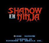 Video Game: Shadow of the Ninja