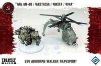 "Board Game: Dust Tactics: SSU Airborne Walker Transport – ""MIL MI-46 / Nastasia / Nikita / Nina"""