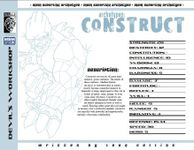 RPG Item: Archetypes: Construct