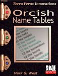 RPG Item: Orcish Name Tables