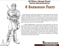 RPG Item: Bullet Points: 8 Barbarian Feats