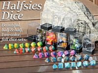 Board Game Accessory: The King's Armory: Halfsies Dice