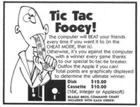 Video Game: Tic Tac Fooey!