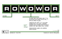 Video Game: ROWOWOR