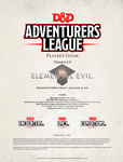 RPG Item: Adventurers League Player's Guide (Elemental Evil)
