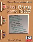 RPG Item: Halfling Name Tables