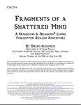 RPG Item: CALI3-4: Fragments of a Shattered Mind