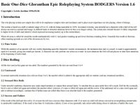 RPG Item: BODGERS: Basic One-Dice Gloranthan Epic Roleplaying System