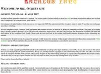 RPG Item: Archeus Fantasy Roleplaying Rules