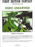 RPG Item: First Edition Fantasy: OSRIC Unearthed
