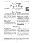 RPG Item: A Dozen Magical Rings